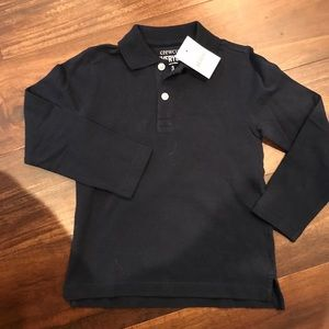 Crewcuts navy blue polo 3t